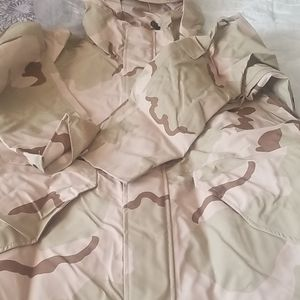 Military style raincoat